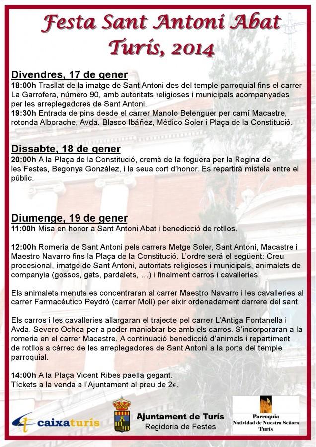 Cartel Sant Antoni 2014