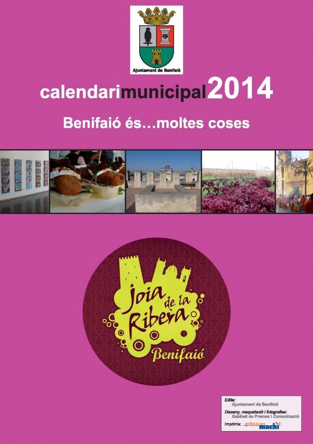 Portada Calendari benifaio 2014