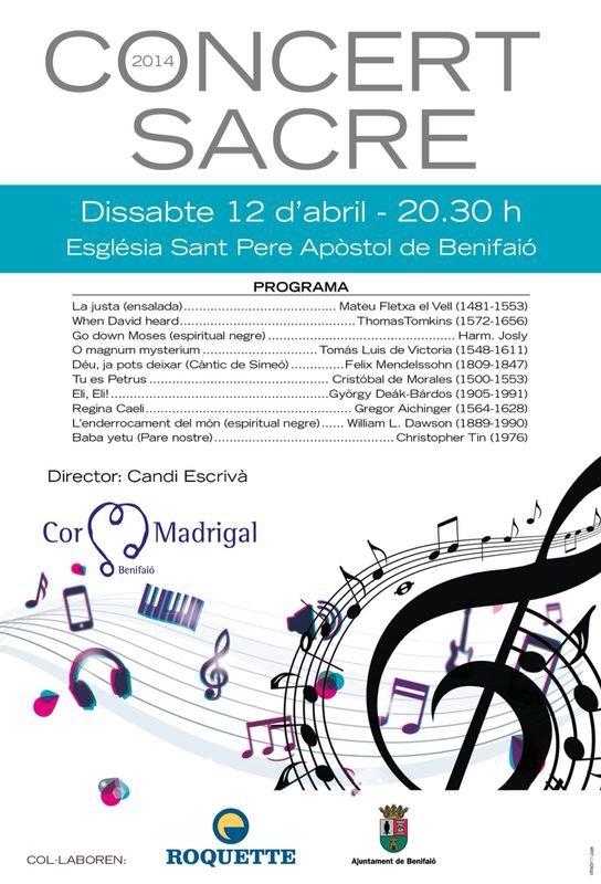 Concert abril 2014 cor madrigal