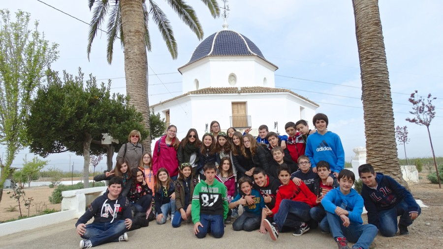 Escolares visita ermita Sant Bernat 1
