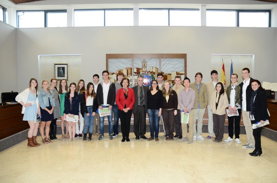 Visita Ayto estudiantes norteamericanos