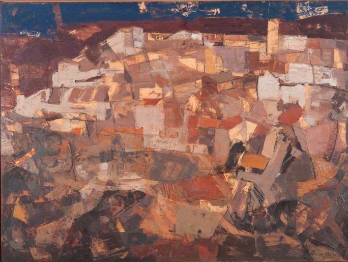 2. BUSQUEDA DE LA LUZ, MIXTA SOBRE TABLA 97X130, 1990