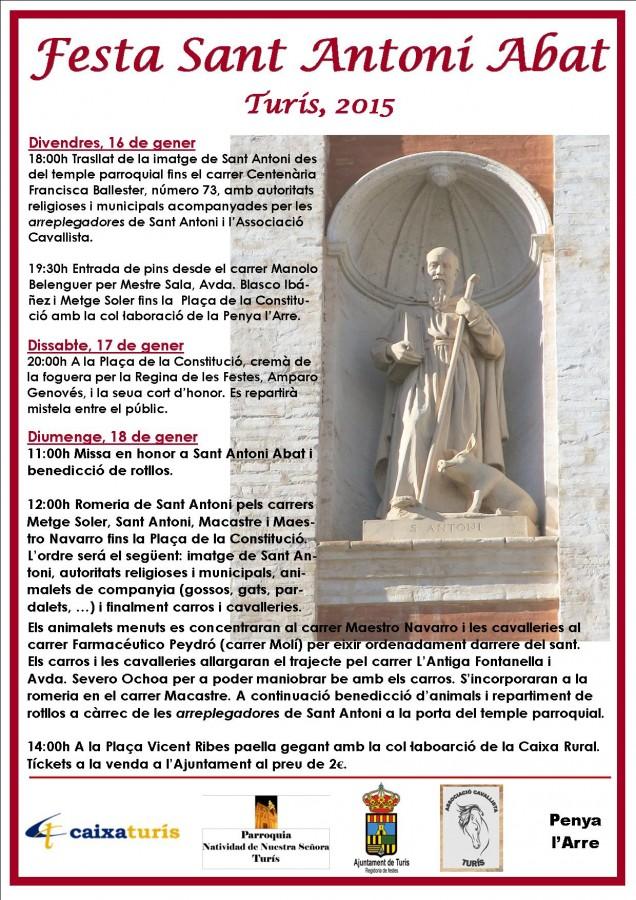 Cartel Sant Antoni 2015 – copia
