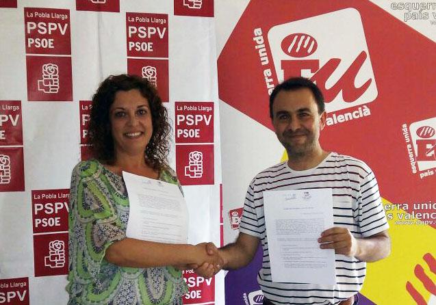 Neus Garrigues i Vicent Dasi portaveus dels Socialistes i d'EU