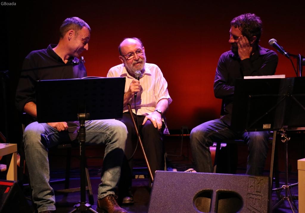 Marc Granel amb Borja Penalba i Francesc Anyó en l'espectacle 'Granell. De mà en mà'_01